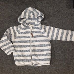 H&M Striped Hooded Zip-Up